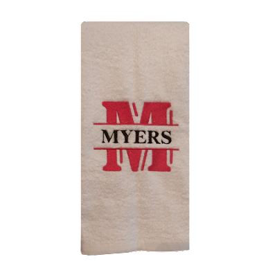 New: Custom Monogrammed Embroidered Towels