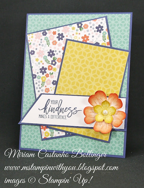 Miriam Castanho-Bollinger, #mstampinwithyou, stampin up, demonstrator, mm, thank you, petite petals, petite petals punch, flower shop, thoughtful branches, su