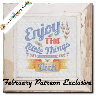 Enjoy the Little Things Salty Subversive Cross Stitch Pattern