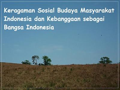 Materi dan Pembelajaran Keragaman Sosial Budaya Masyarakat Indonesia dan Kebanggaan sebagai Bangsa Indonesia, Contoh Makalah Bagus, Blog Geografi