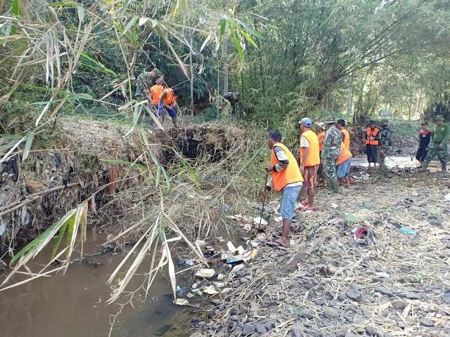 Satgas Subsektor 21-16 Rutin Patroli Dua Sungai di Cicalengka