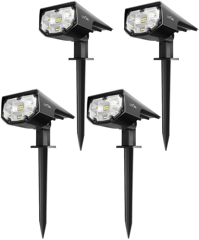 40% off LITOM 12 LEDs Solar Landscape Spotlights