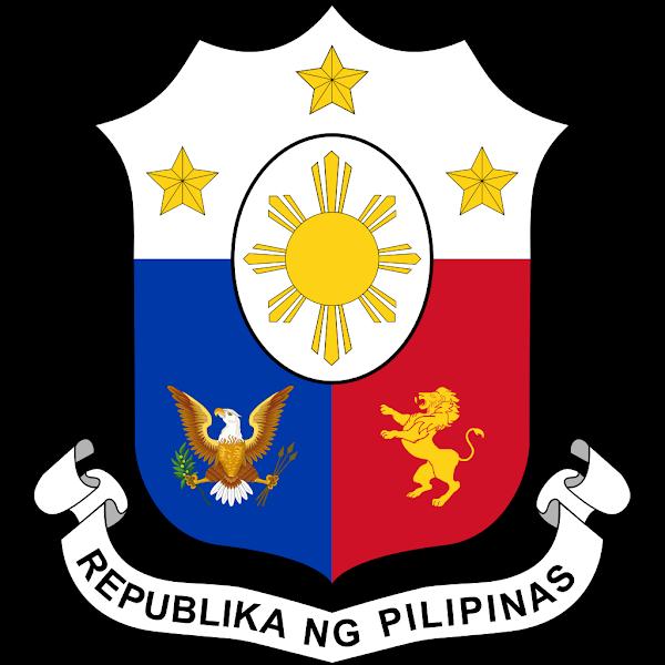 Logo Gambar Lambang Simbol Negara Filipina PNG JPG ukuran 600 px