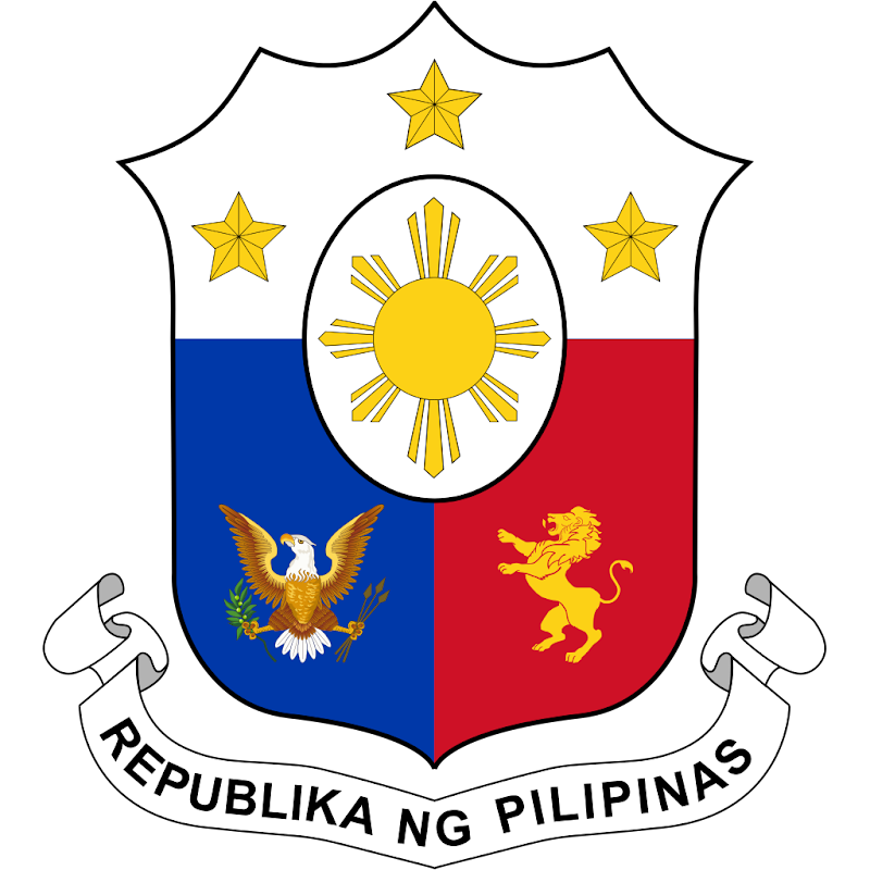 Logo Gambar Lambang Simbol Negara Filipina PNG JPG ukuran 800 px