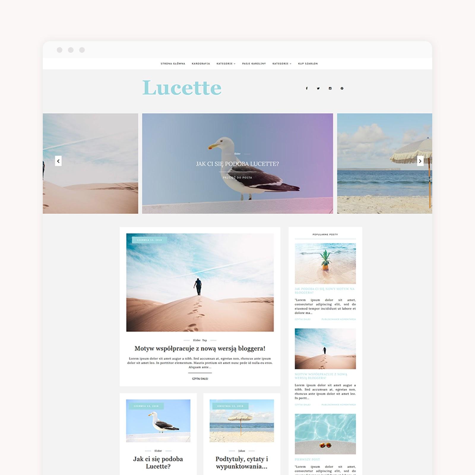 Motyw na bloggera - Lucette {już w sklepiku}