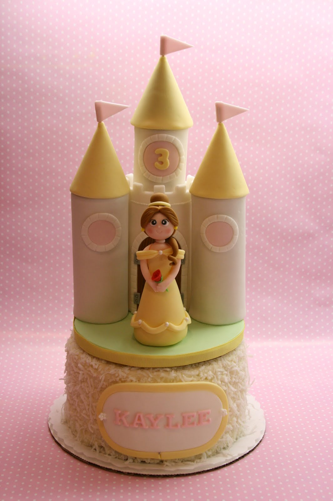 Beautiful Kitchen Princess Belle And Castle Cake For