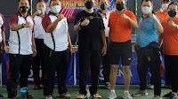 Sambut Hari Bhayangkara ke-75, Polda Banten dan Kejati Olahraga bareng