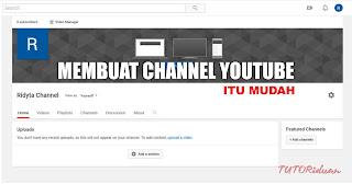 Cara Mudah Membuat Channel Youtube
