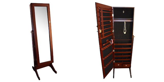 Shop Nile Corp Wholesale Jewelry Armoire Stand with Mirror