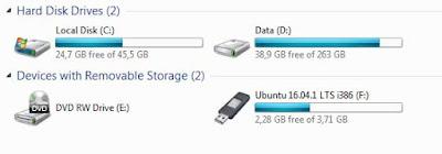 membuat bootable linux ubuntu dengan flashdisk