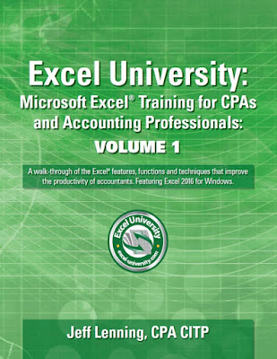[Free ebook]Excel University. Microsoft Excel Training for CPAs and Accounting Professionals