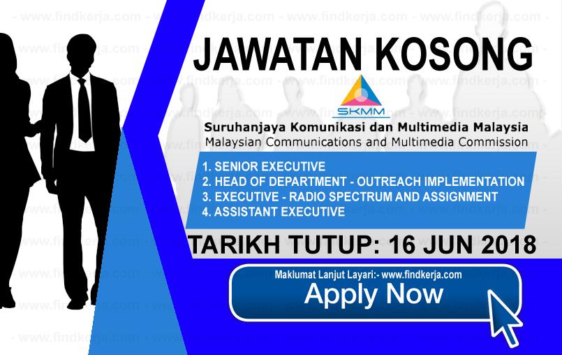 Jawatan Kerja Kosong SKMM - Suruhanjaya Komunikasi Dan Multimedia Malaysia logo www.findkerja.com www.ohjob.info jun 2018