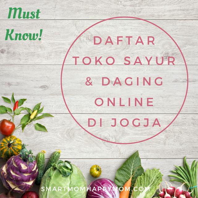Daftar toko sayur dan daging online di jogja