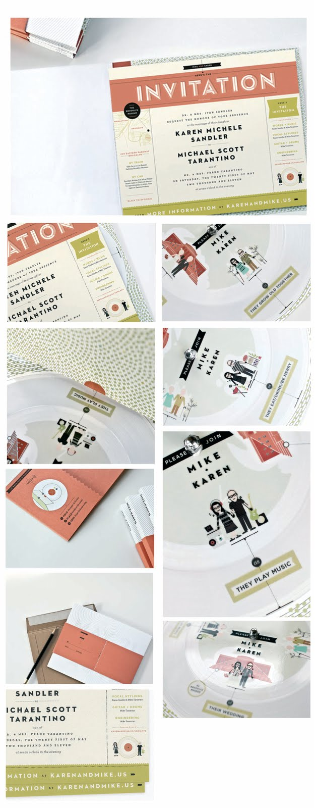 Wedding invitation booklets