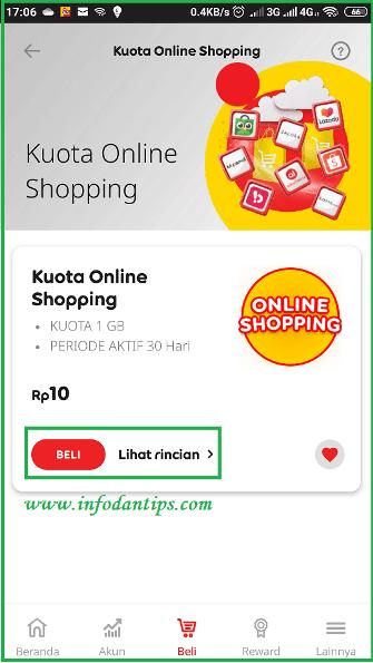 Mengenal Kuota Online Shopping 1gb Hanya Rp 10 Indosat Im3 Ooredoo