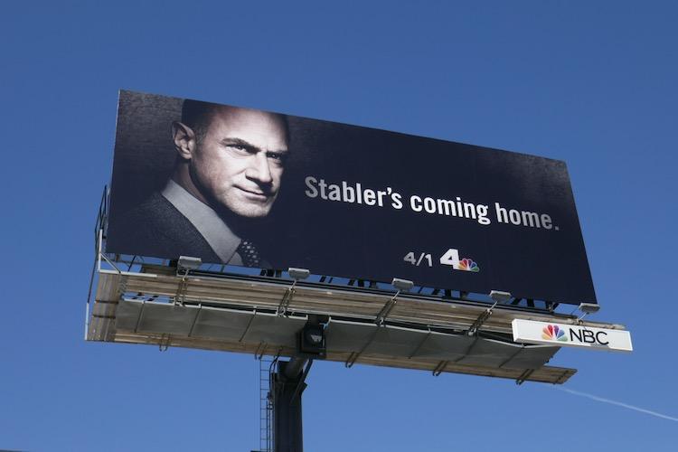 Stabler Home Law & Order Organized Crime billboard