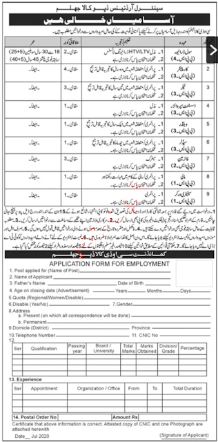 Central Ordnance Depot Jhelum Army Jobs 2020