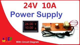 How to make 24v and 10amp power supply easy at home