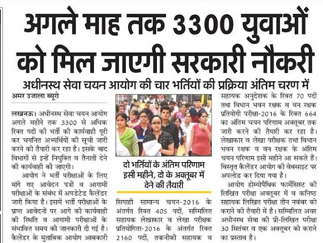 3300 युवाओं को मिल जाएगी सरकारी नौकरी