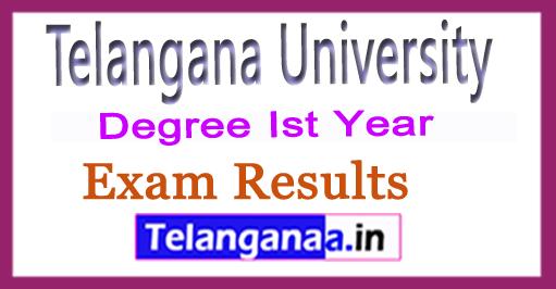Telangana University TU 1st Sem Results 2018