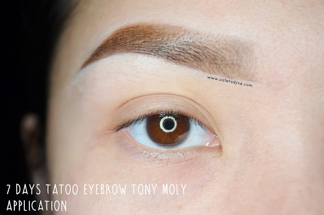 7 Days Tatoo Eyebrow Tony Moly Application