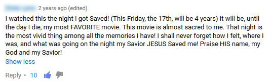 A Comment Found Under The Documentary On YouTube