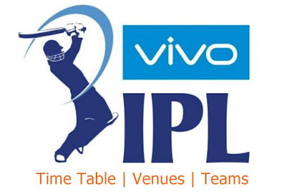 IPL 2019 Schedule With Venue Download PDF | IPL Time Table 2019 Download