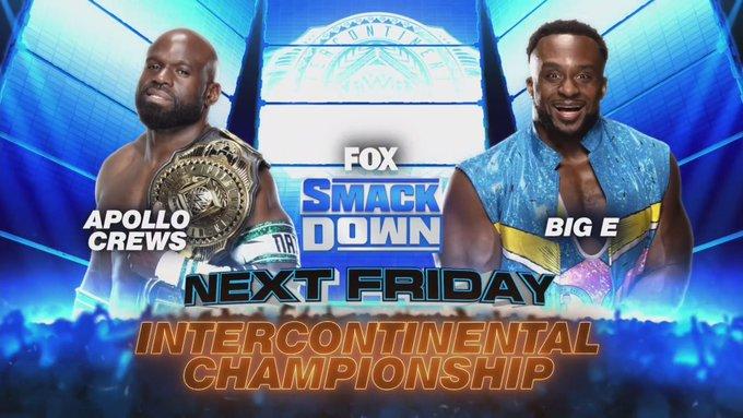 WWE Intercontinental Championship estará em jogo no próximo Friday Night SmackDown