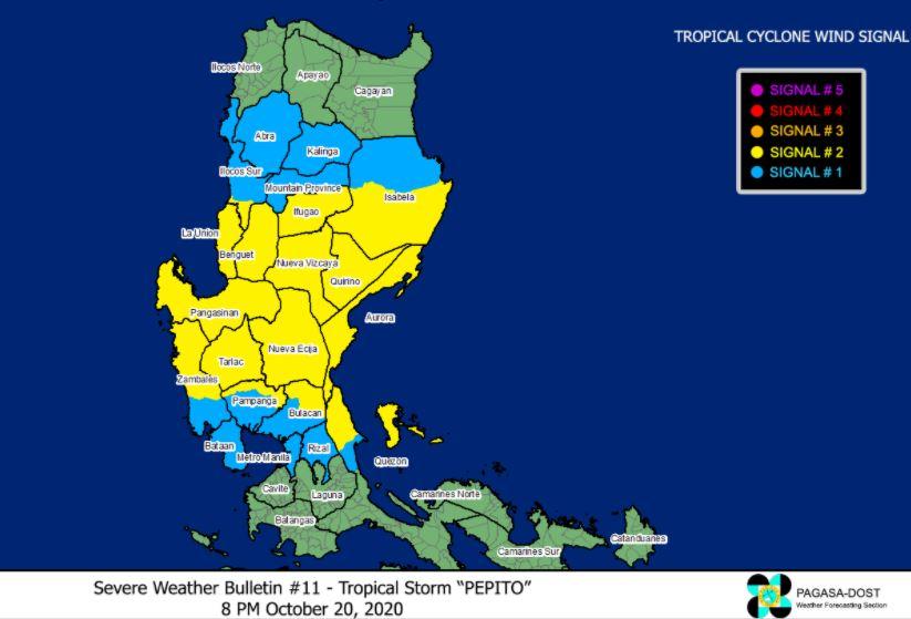 'Bagyong Pepito' endangers Aurora Province - PAGASA