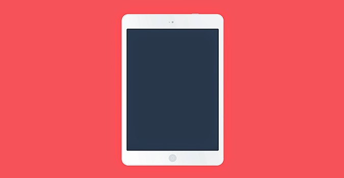 White iPad Air PSD