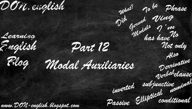 Modal Auxiliaries   Modals Present Past Perfect