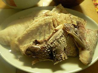 鯛のアラ塩焼き