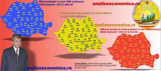 Topul județelor după PIB-ul pe locuitor în perioada comunistă