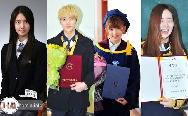 ảnh tốt nghiệp của các sao Hàn