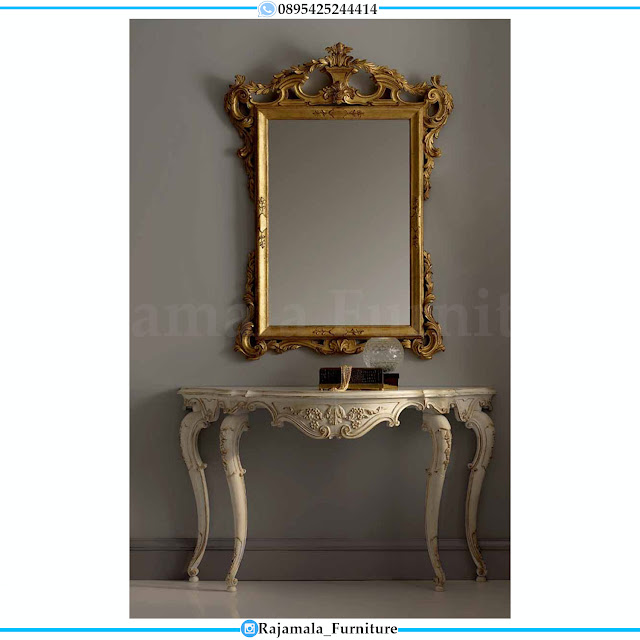 Classic Design Meja Konsul Mewah Ukiran Jepara Luxurious Golden RM-0527