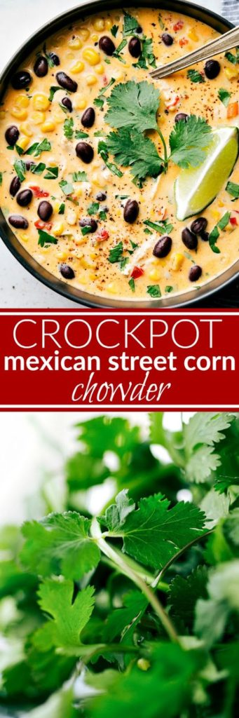 Crockpot Mexican Street Corn & Chicken Chowder