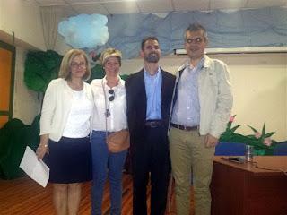 Η κα Αζούκη και η κα Εξάρχου μαζί με τον Βαγγέλη Αυγουλά και τον Παναγιώτη Μαρκοστάμο