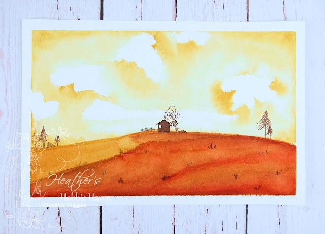Heather's Hobbie Haven - Hillside Landscape - Watercolor