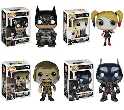 Batman: Arkham Knight Pop! Vinyl Figures by Funko – Batman, Harley Quinn, The Scarecrow & Arkham Knight