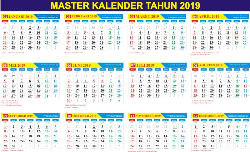 Download Master Kalender 2019 Cdr