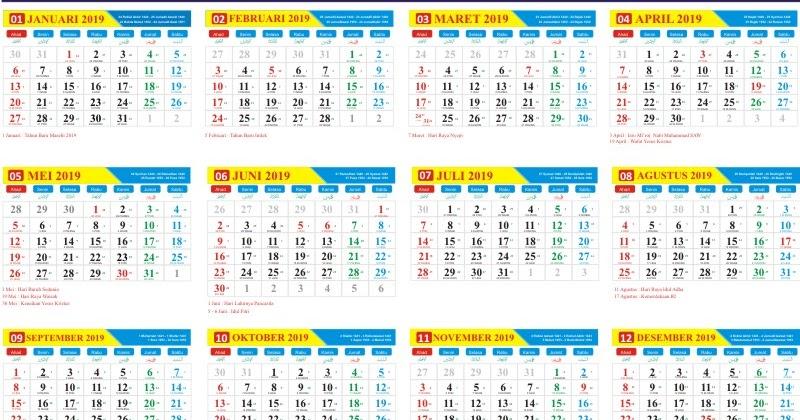 download master kalender tahun 2019 gratis pdf cdr. Black Bedroom Furniture Sets. Home Design Ideas