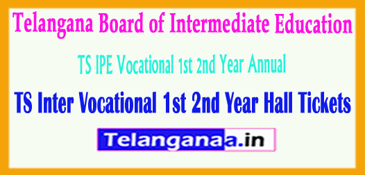 TS Inter Vocational 1st 2nd Year Hall Tickets 2018