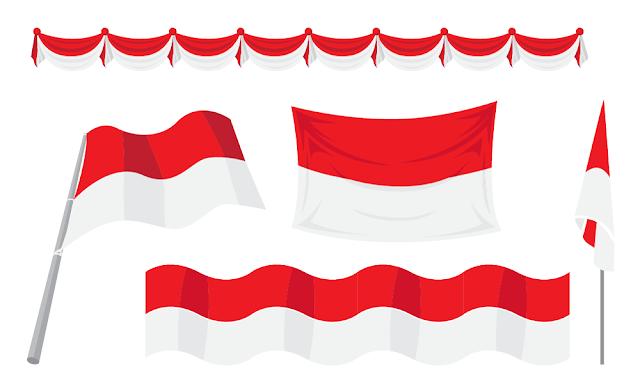 bendera merah putih vektor