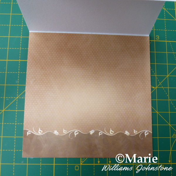 Decorate the inside of the square basic easel card blank