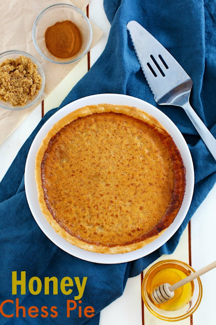 Enjoy this honey sweetened twist on a chess pie. With a kiss of lemon, honey richness and lots of chess pie goodness, it is a perfect treat for almost any occasion!