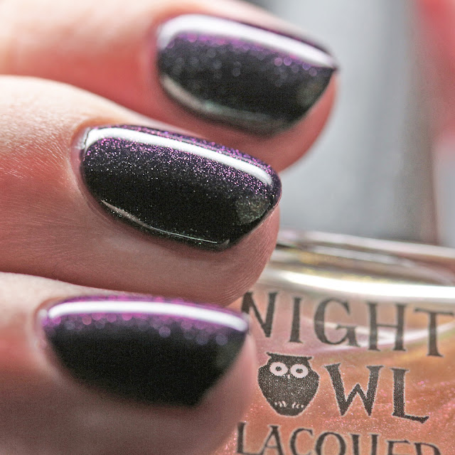 Night Owl Lacquer Lookin' Shifty over Cackle Much?!