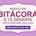 MODELO DE BITÁCORA C.T.E. DOCENTE CICLO ESCOLAR 2019