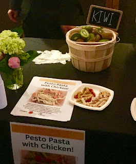 Pesto pasta with chicken sample meal