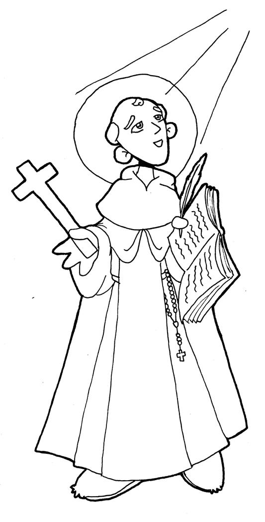 Dibujos para catequesis: SAN JUAN DE LA CRUZ