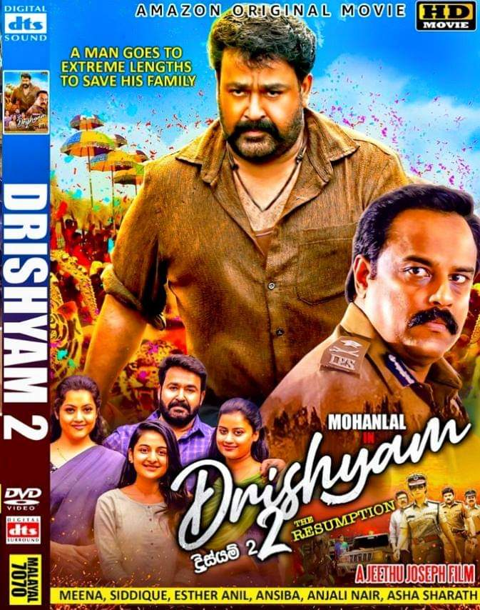 Drishyam 2 (2021) Dual Audio 720p UNCUT HDRip [Hindi – Malayalam] 1GB | 400MB Download